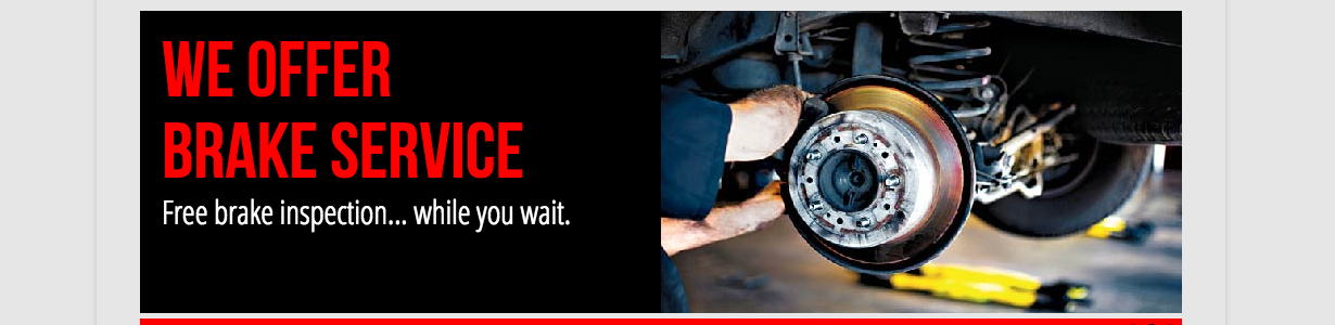 Free Brake Inspection Sandy Salt Lake City Utah