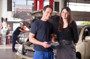 Mechanic with Customer
