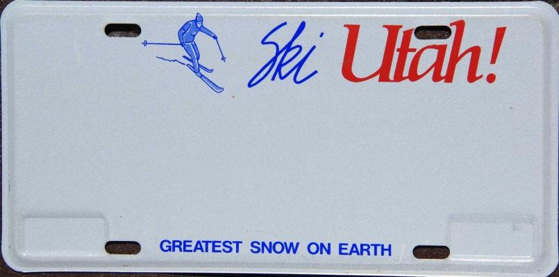 Utah Vanity Plate